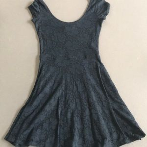 WORN ONCE blue lace flowered dress